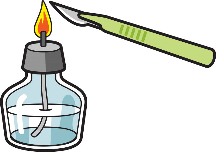 Sterilize your scalpel