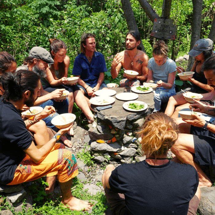 Mushroom Cultivation Course Meal Time